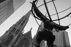 The View (kellyhackney1) Tags: theview stpatricks newyork newyorkcity newyorkbaby manhattan bigapple blackandwhite piccy citybreak 5thavenue