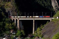 SBB Re 10/10 in Amsteg (TheKnaeggebrot) Tags: sbb cargo international klv gotthardbahn gotthard gottardo amsteg silenen nordrampe re420 re620 re44 re66 chrstelenbachbrcke