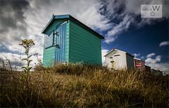 Morning Light At Littlestone Huts. (ziggystardust111...taking a break !!!) Tags: littlestone huts grassbank grass clouds colourful ziggystardust113hotmailcouk