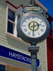 Centennial, Suttons Bay, MI, 2016 (Tom Powell) Tags: suttonsbay leelanau michigan stjosephstreet 2016 nikond40 clock texture patterns