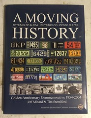 A MOVING HISTORY license plate book I (woody1778a) Tags: books licenseplate numberplate registrationplate mycollection myhobby literature woody