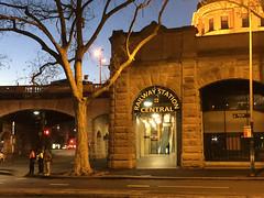 Historical Sign (phillipdumoulin) Tags: sydney australia nsw railway centralrailwaystation sandstone building history renovations clock