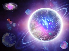 Beauty (ingridfrd) Tags: montage double exposer color universe galaxy stars planets fantasy