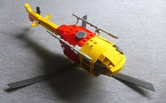 Lifesaver 36 (3) (LonnieCadet) Tags: lego helicopter heli life lifesaver 36 victoria australia emergency rescue eurocopter as350 squirrel saving aquatic 2016 moc custom brick technique