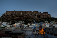 Dawn at the Fort (www.davidbaxendale.com) Tags: dawn jodhpur rajasthan mehrangarh fort blue city india