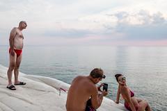 DSCF3674 (Andrea Scire') Tags: sunset landscape red candid mood sicily italia agrigento scaladeiturchi curiosit costume colore mare sea color people streetphotography street italy man sicilia