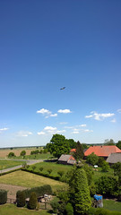 The really best weather for flying relaxed through the calm air.. (arwed.kubisch1) Tags: darchau village neuhaus strche storch ciconiidae stork storks blau himmel wolkig wolken blue sky cloudy clouds sonnig sunny