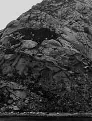 Looming Morro Rock (elektron9) Tags: losangeles la california cali westcoast usa us thegoldenstate canon bestcoast daytime morro morrobay morrorock massive impressive nature size scale texture color rocky trucks people behemoth
