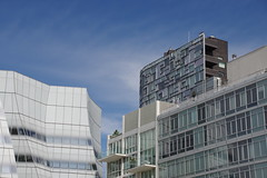 Modern Architecture near the High Line (TheMachineStops) Tags: 2015 outdoor nyc newyorkcity architecture highline buildings chelsea condos frankgehry manhattan