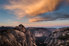 Half Dome Sunrise (Kurt Lawson) Tags: a7r2 cables canyon carved cliff clouds dome edge elcapitan forest glacially glacier glacierpoint granite half halfdome incredible king last light metabones mount mountwatkins mt national nationalpark north northdome pano panorama park point polished ridge rock sentinel sentineldome sentinelrock silhouette sky sony starr starrking stitched sub subdome summer sunrise sunset tenaya trees valley watkins yosemite