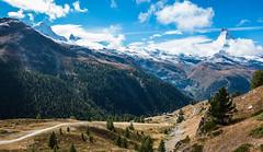 The Matterhorn (Origin_AL) Tags: zermatt mountain matterhorn sky cloud trees road switzerland sonyrx100mk4 stiched panorama sunnegga