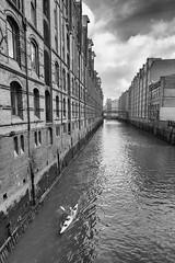 Hamburgo (Masterdreams) Tags: architecture building city buildings hamburgde hamburgmeineperle hamburgtourismus hamburg water kayak canal river