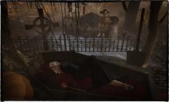 Draculas Bride (nannja.panana) Tags: halloween fantasy garden wowskins ~snse~ catwa fantasygarden ikon maitreya onelittlelight phedora shinyshabby violentseduction secondlife sawsansecretspy coffeetime nannjapanana autumn