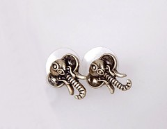 Vintage Retro Elephant Earrings (cpurr) Tags:
