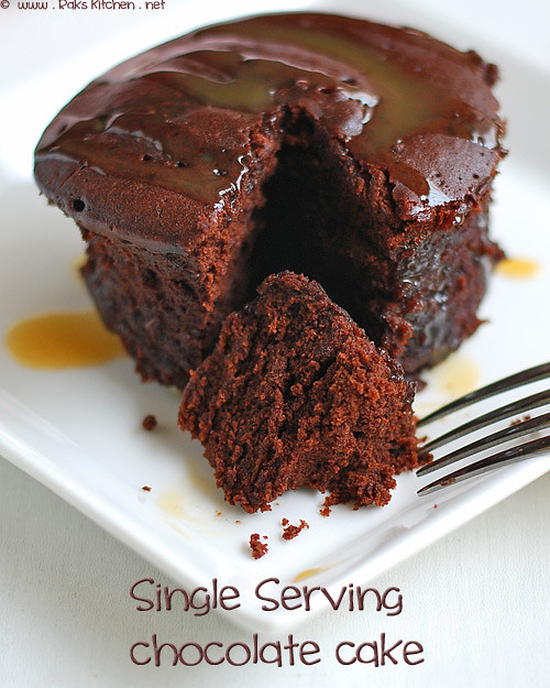 MICROWAVE CHOCOLATE CAKE SINGLE SERVING Raks Kitchen