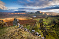 Quiraing Sunset / UK (Maciej - landscape.lu) Tags: attheseaside blue cliff climbtothetop digital ecosse endofday europe goldenhour green highland horizon isleofskye maciejbmarkiewicz magichour march mothernature mountain mountains nature outdoor rock scenery scotland spring sunset unitedkingdom west wilderness photography wwwlandscapelu fineart variosonnart28222470 zeisscontest2012 zeisscontest2012 carl zeiss zaavailablelight za availablelight sony