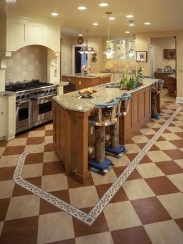 piso linoleo cocina