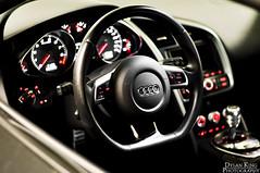 Audi R8 (Dylan King Photography) Tags: canada black vancouver 50mm lights nikon bc steering interior wheels columbia headlights front grill led dash british carbon nikkor f18 fiber audi rims v8 pur r8 fsi splitter 42l d90