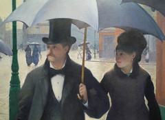 Gustave Caillebotte, Paris Street; Rainy Day, couple close
