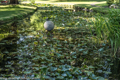 On The Ball by Michael McWilliams: Sculpture In Context 2012 at the National Botanic Gardens