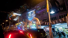 Arches (jenschuetz) Tags: street nightphotography travel vacation holiday motion blur southeastasia driving traffic malaysia neonlights nightlife kualalumpur aroundtown kl overseas gettinouttadodge
