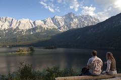 Zugspitzmassiv (Elmar Bajora Photography) Tags: mountain lake mountains water landscape see wasser outdoor peak berge gorge alpen garmisch garmischpartenkirchen eibsee gebirge massif zugspitze gapa eibseelake