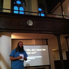 Listening to @yandle introduce UX Brighton