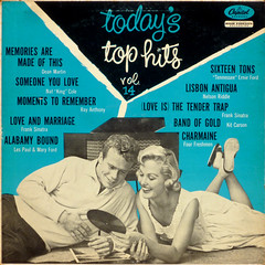 Today's Top Hits Vol 14 (epiclectic) Tags: music art vintage album vinyl romance lovers retro collection relationship jacket cover artists lp record romantic 1956 various floored sleeve compilation epiclectic recordonrecord