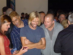 Katie Cotton (Apple PR),  Pat Smear,  Taylor Hawkins (both Foo Fighters), Jony Ive (Apple VP) , Tim Cook (Apple CEO - with back to camera) (textlad) Tags: nirvana ios iphone yerbabuenacenterforthearts phil timcook pat appleiphone iphone5 jonyive scottforstall taylor foo fighters grohl hawkins iphonefive smear ios6 iphone5launch katiecotton schiller dave