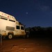 Noite estrelada no Wadi Rum