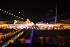 Fairground Zoom (Andy Spong) Tags: motion night nikon long exposure fairground devon nikkor torquay vr 18200mm d90