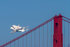 Space Shuttle Endeavour and the Golden Gate Bridge (bhautik joshi) Tags: sf sanfrancisco california northerncalifornia marina nasa goldengatebridge goldengate shuttle spaceshuttle sfist endeavour sfflickrmeetup spaceshuttleendeavour ov105 spottheshuttle flipshuttle sfendeavour2012 spaceshuttleinsanfrancisco shuttlelowpass picturesofshuttleoversanfrancsico