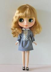 low waist dress stripe