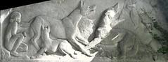 The Mowgli Bas Reliefs (1935) - PP-1B The Wolf Mother, Raksha, Protects the Infant Mowgli from the Tiger, Shere Khan by William Hunt Diederich (1884-1953) - Prospect Park Zoo, Brooklyn, New York, Sep 2012 (ketrin1407) Tags: sculpture newyork statue brooklyn 1930s prospectpark limestone mowgli raksha greatdepression basrelief rudyardkipling prospectparkzoo sherekhan newdealart motherwolf junglebooks mowglisbrothers fatherwolf
