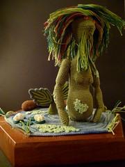 Vodyanoy the Water Goblin (McFiberNutt) Tags: thread miniature crochet folklore amigurumi
