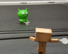 Poe and Danbo Match Point (38/52) (vmabney) Tags: canon toys tennis dslr poe uglydolls danbo danboard