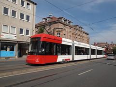 VAG  Verkehrs-Aktiengesellschaft Nürnberg, 1201 in Nuremburg  P9176195 (MrB Bus) Tags: germany nuremberg tram german trams 1201 vag strassenbahn tramvaj strasenbahn strasenbahnen verkehrsaktiengesellschaftnürnberg