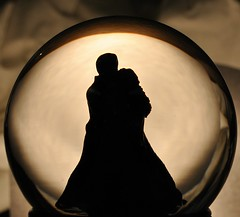 Snowglobe. (Wailana Hallam) Tags: lighting light shadow test water glass lamp silhouette dark fun bed opera play spooning experiment sheet snowglobe phantomoftheopera bedsheet worklamp