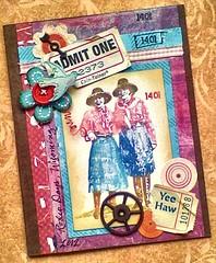 purnimaVLVSWyomingCowgirls (entwoman) Tags: handmade mixedmedia stamp card marker stamping cowgirl distress timholtz vlvs maryvogellozinak vlvstampscom