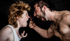 Domestic quarrel (zubrow) Tags: portrait woman man guy girl photo sony domestic alpha quarrel a55