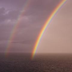 Twin Rainbows in Stephens Passage Alaska (durand clark) Tags: alaska rainbow juneau rainbows diamondprincess pentaxk5