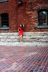 distillery district (elena-tokareva) Tags: street portrait toronto ontario canada mill girl beautiful architecture canon model downtown pretty district bricks brunette distillery t3i lidiya