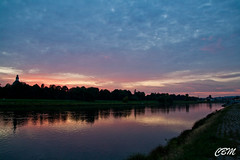 Just a Sunset... (chris.bonatto) Tags: sunset sky panorama water germany landscape dresden elba wasser tramonto colours sonnenuntergang himmel cielo sachsen acqua farbe colori elbe germania dresda greatphotographers