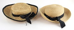 1050. Two Fine Raffia Summer Hats, Kaminski, circa 2000