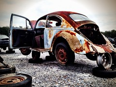 Bahumbug 2 (Gergdole) Tags: camera old beetle forgotten rusted junkyard scrap volkswagon forlorn iphone