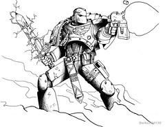 Space Marine commission (Darkchild130) Tags: marine power space 40k pistol bolt sword warhammer