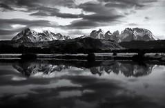 Paine (polarisandy) Tags: patagonia southamerica monochrome 35mm landscape prime 24 torresdelpaine paine 2400 primelens fujicastx1 painemassif colourrestoration polarisandy unsharpmedium wwwpolarisandycom