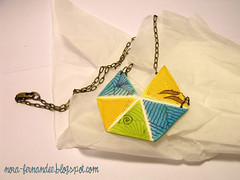 Collaret triangles (Nora ardilla polimrica) Tags: necklace stamps polymerclay fimo sculpey collar colgante