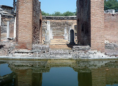 """Maritime Theater,"" Hadrian's Villa, close axial view"