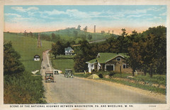 National Highway Postcard - n.d. (steveartist) Tags: 1920s pennsylvania antique ephemera postcards highways americana roads printedephemera antiquepostcards countryscenes scenicroads postalcards thenationalhighway
